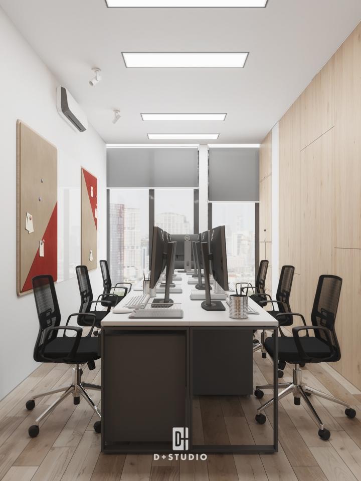 ưu điểm văn phòng đóng phân chia phòng ban rõ ràng