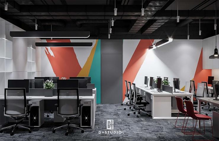 mẫu thiết kế văn phòng mở đẹp