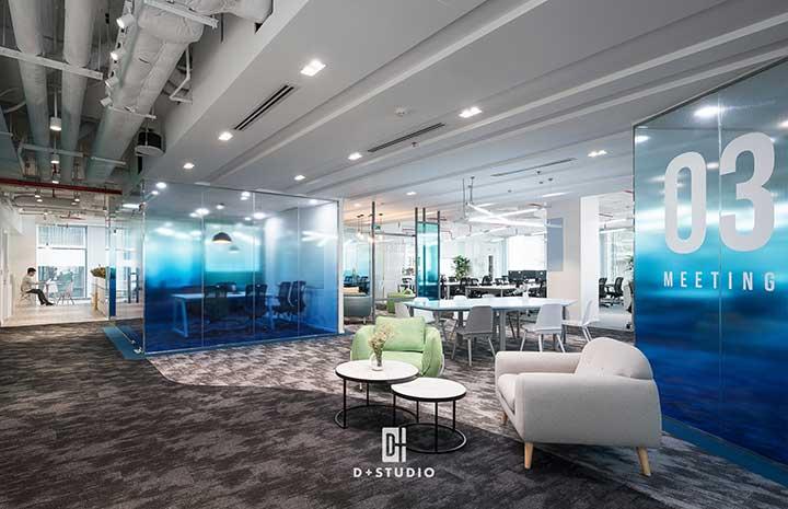 thiết kế văn phòng đẹp của dplus