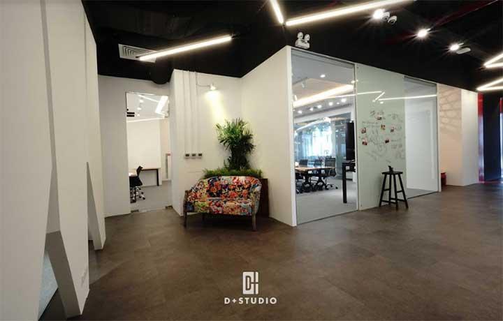 thiết kế văn phòng hỗn hợp đẹp của d+studio