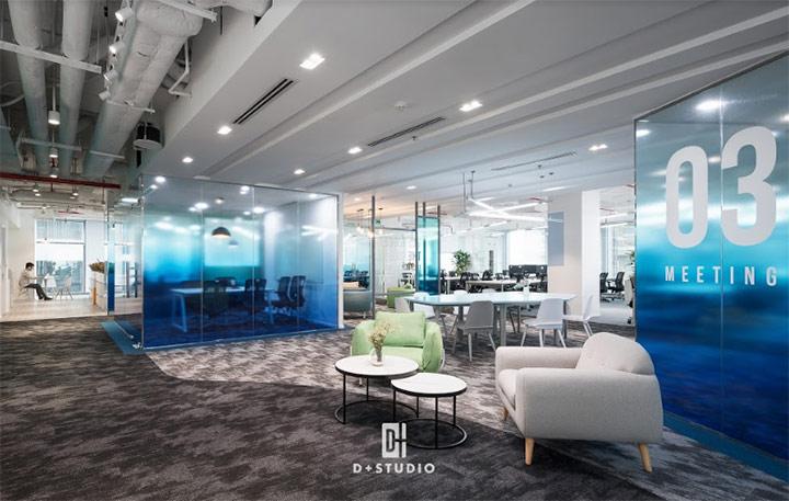 mẫu thiết kế văn phòng mở đẹp dự án cinnamon