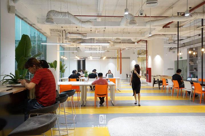 văn phòng mở tối ưu không gian chung và không gian cá nhân