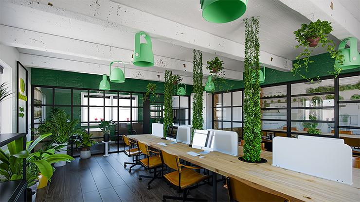 ưu điểm của văn phòng xanh về mặt kinh tế