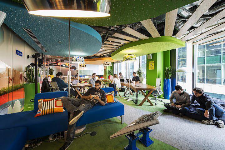 văn phòng làm việc hiện đại của google