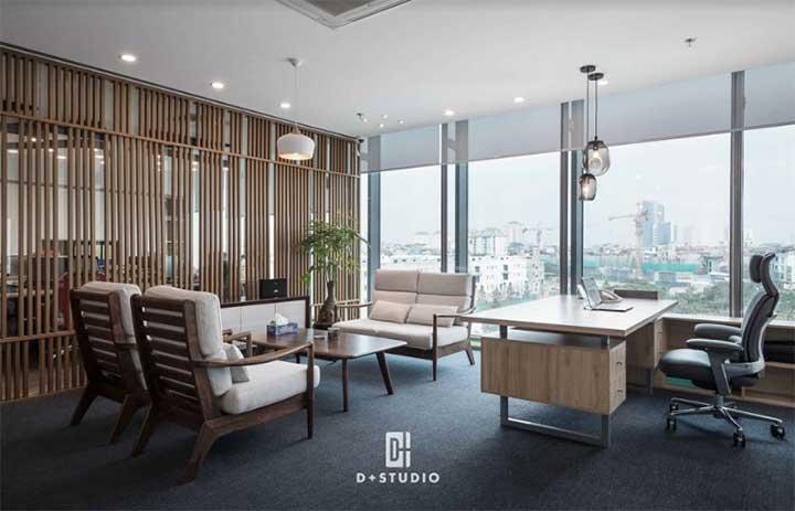 mẫu thiết kế văn phòng hỗn hợp đẹp của d+studio