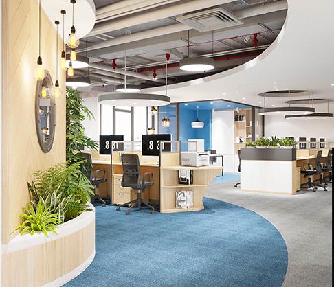 cách thiết kế cây xanh trong văn phòng đẹp
