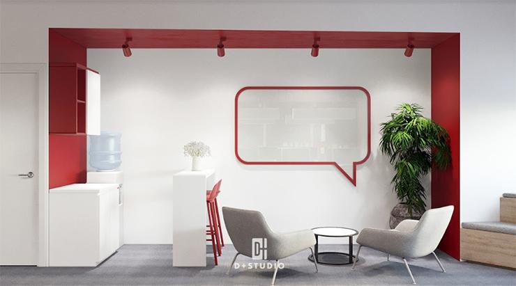 mẫu thiết kế pantry văn phòng canifa đẹp