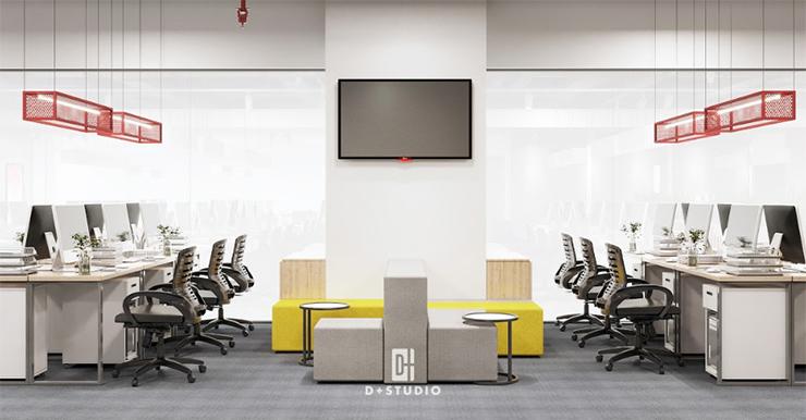 mẫu thiết kế pantry văn phòng canifa