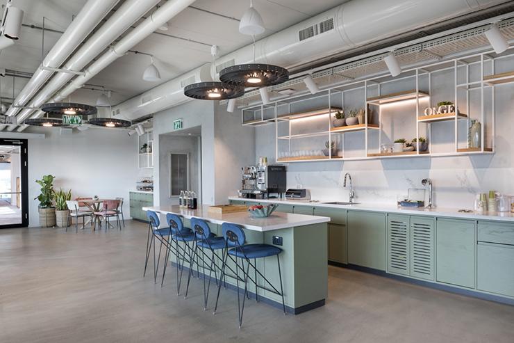 mẫu thiết kế pantry văn phòng nổi tiếng ge digital