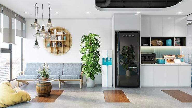 mẫu thiết kế pantry văn phòng đẹp mắt