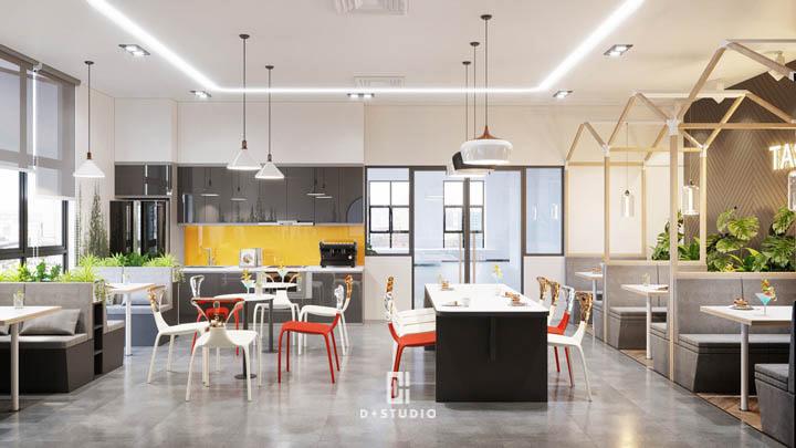 mẫu thiết kế văn phòng xanh hiện đại