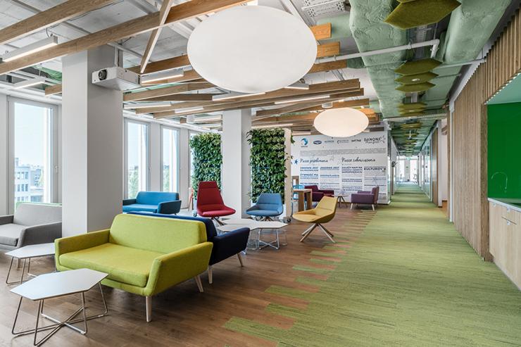 mô hình văn phòng không gian xanh