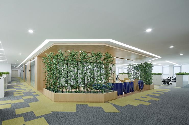 thiết kế cây xanh dọc hành lang