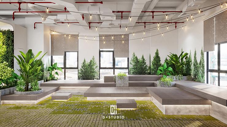 thiết kế khu vườn xanh