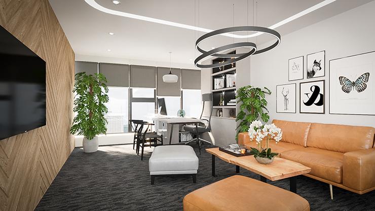 thiết kế cây xanh phòng giám đốc