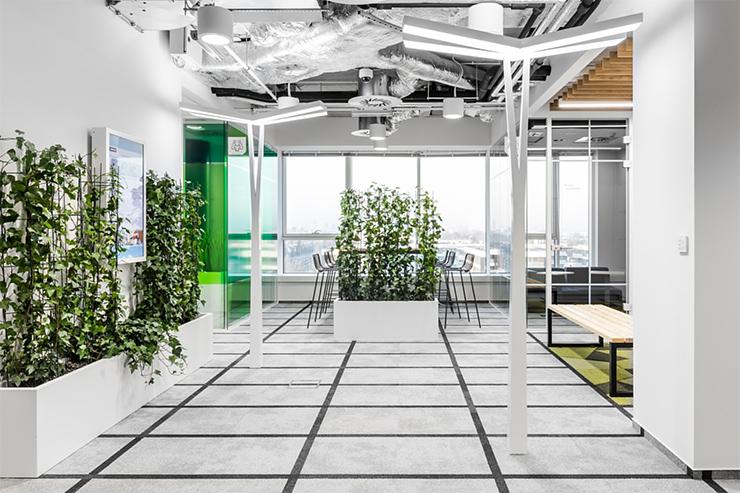không gian văn phòng xanh đẹp độc đáo