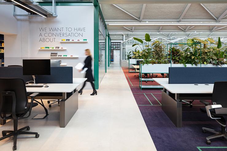 thiết kế văn phòng xanh với khu vườn xanh