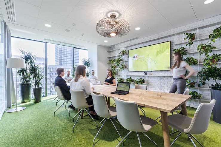 mẫu thiết kế không gian văn phòng xanh olx