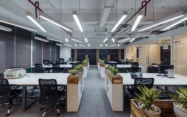 thiết kế văn phòng xanh đẹp hiện đại