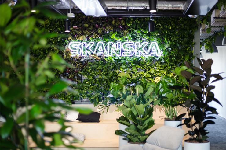văn phòng xanh nổi tiếng của công ty skanska