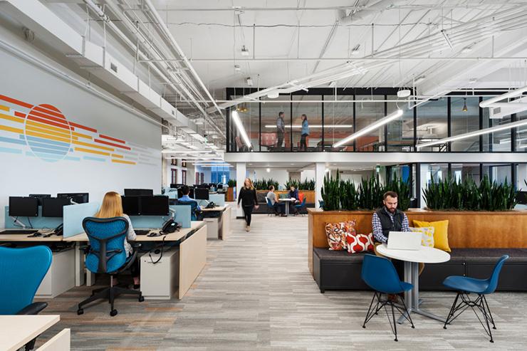 thiết kế văn phòng xanh với nội thất từ vật liệu tái chế
