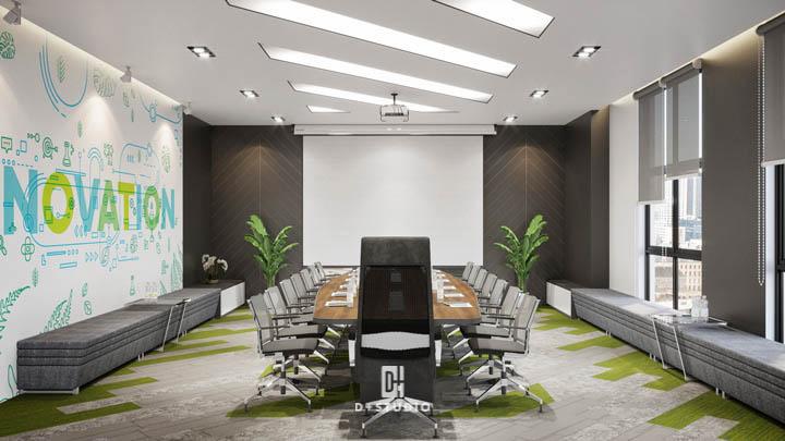 văn phòng xanh sử dụng vật liệu tự nhiên