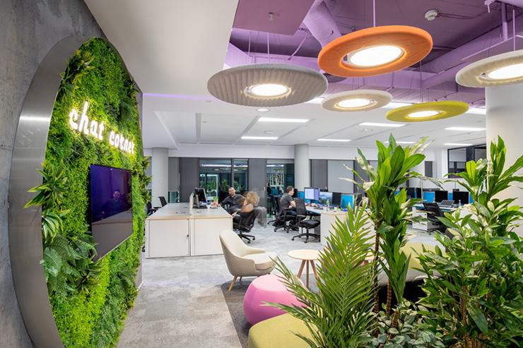 xu hướng thiết kế văn phòng xanh