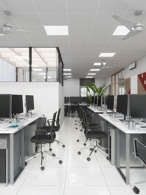cách thiết kế nội thất văn phòng phong cách tối giản