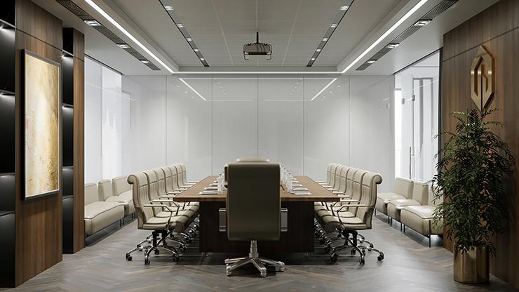 hình ảnh phòng họp sang trọng