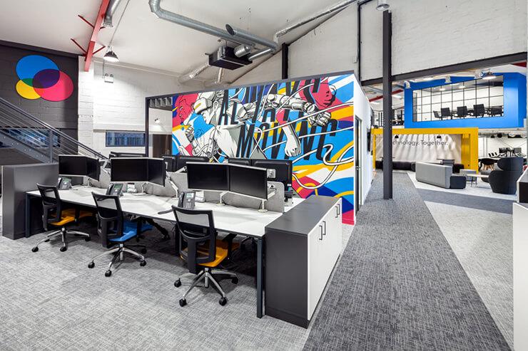 kiểu văn phòng công ty công nghệ