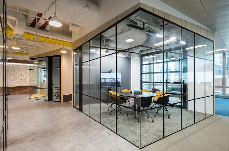 mẫu không gian phòng họp hiện đại