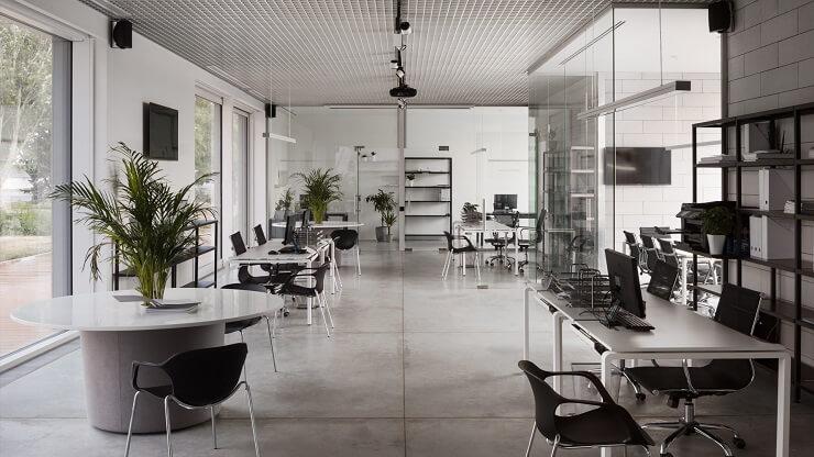 mẫu không gian văn phòng làm việc