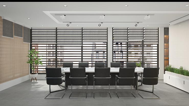 thiết kế phòng họp thoáng đãng