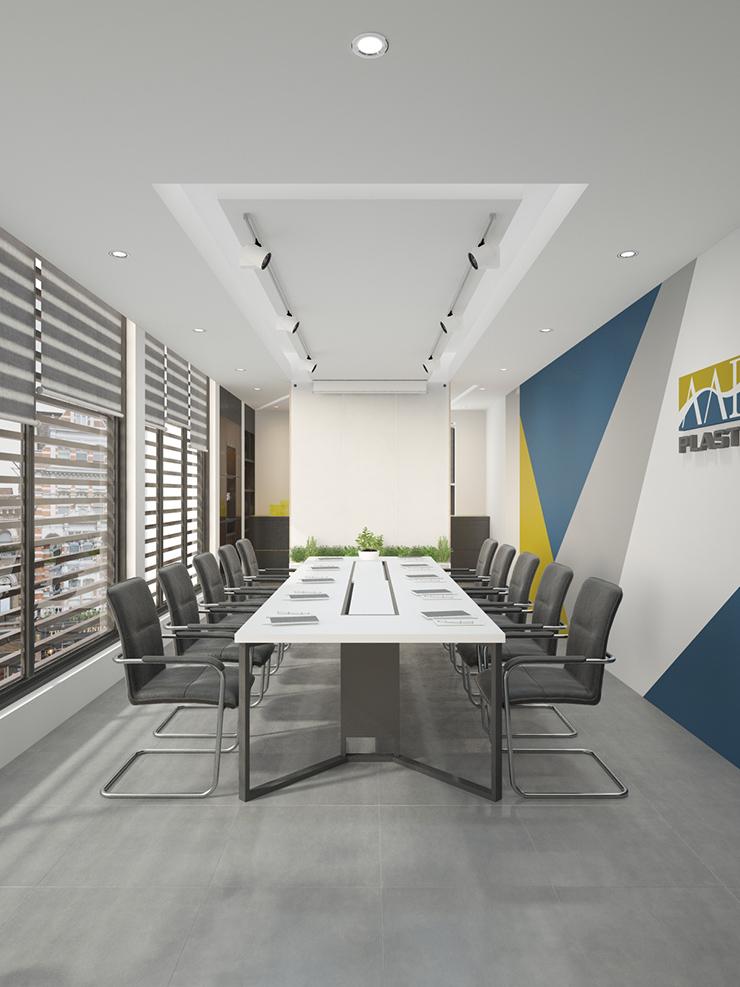 phòng họp thiết kế không gian thoáng đãng