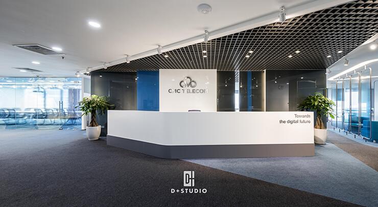 mẫu thiết kế văn phòng đẹp cmc