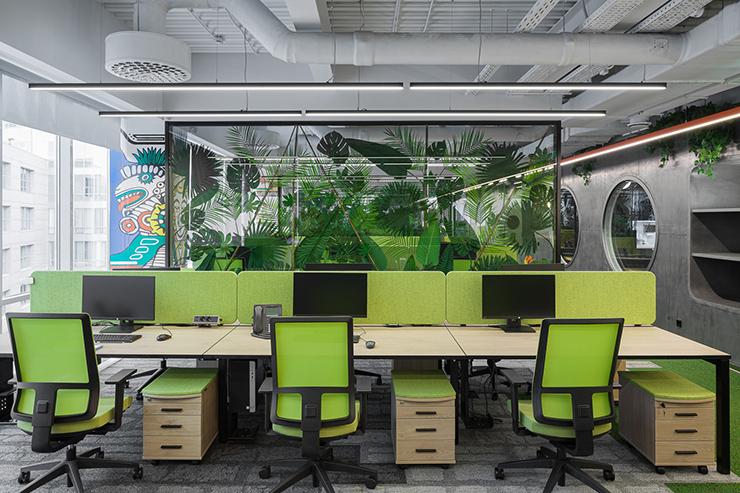 mô hình văn phòng xanh mafin