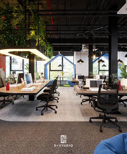 mô hình văn phòng xanh