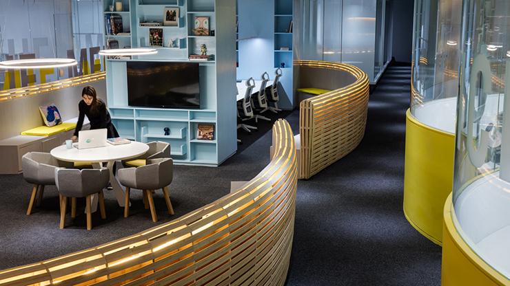 Phong cách thiết kế văn phòng rất hiện đại