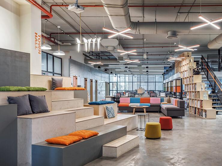 phong cách thiết kế văn phòng thoải mái