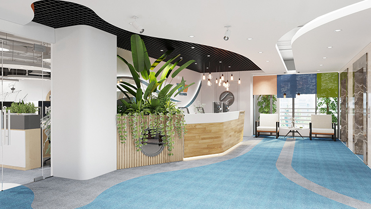 phong cách thiết kế văn phòng xanh eco