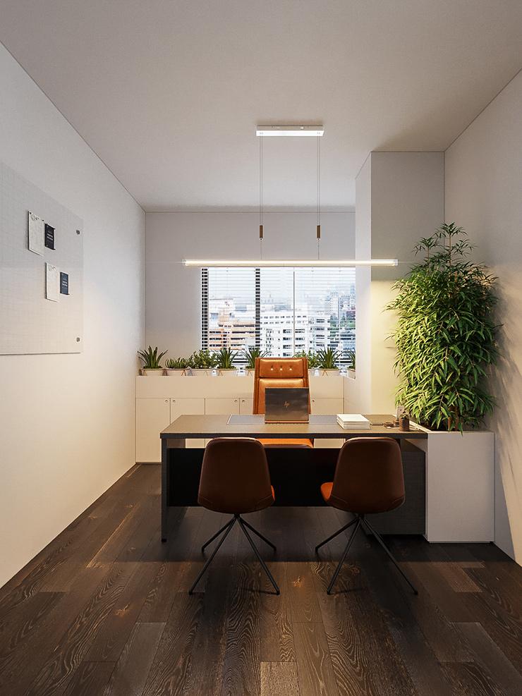 thiết kế phòng giám đốc diện tích nhỏ