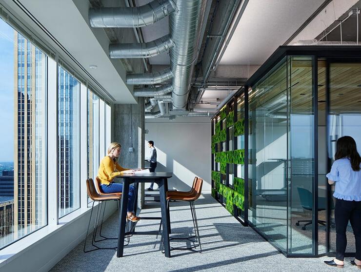 thiết kế văn phòng xanh thoáng đãng