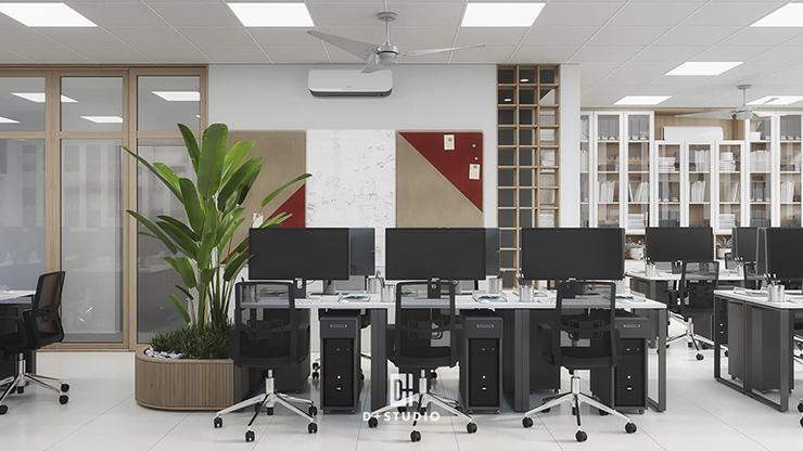tiêu chuẩn thiết kế diện tích phòng làm việc nhân viên
