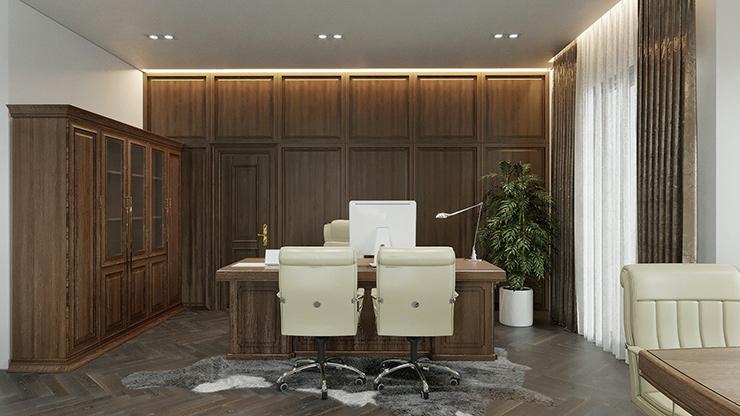 vị trí bàn làm việc của giám đốc