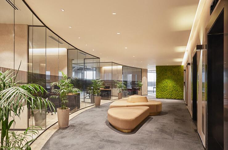 ý tưởng bố trí chậu cây xanh văn phòng