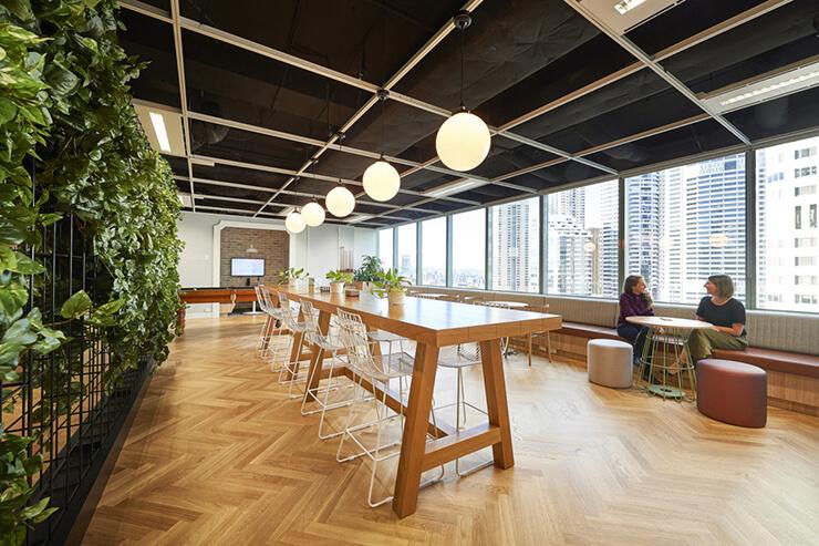 ý tưởng văn phòng xanh đẹp thoáng đãng