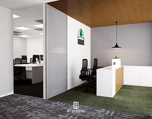 bố trí không gian văn phòng