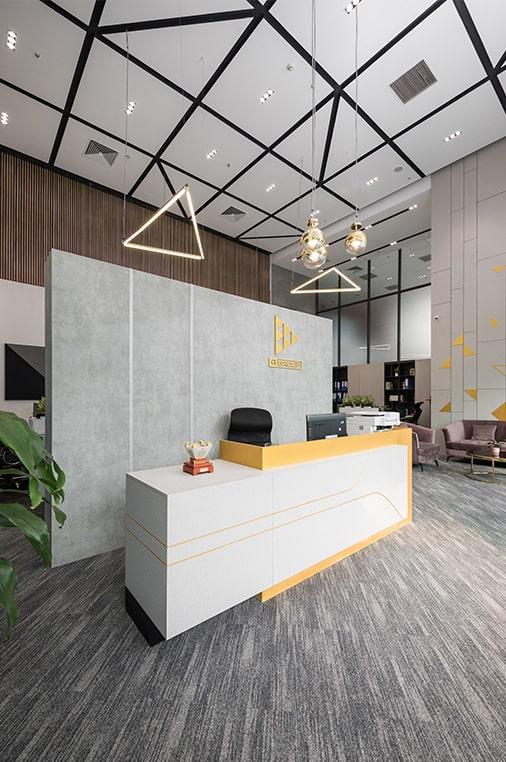 dự án thiết kế nội thất văn phòng g-group