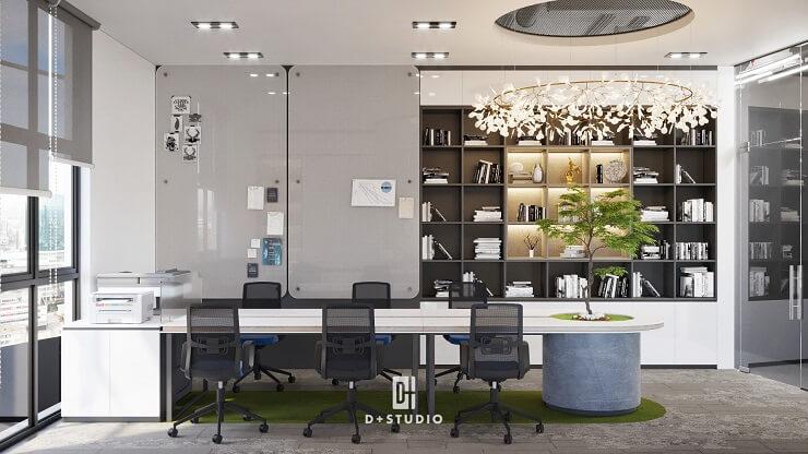 mẫu thiết kế phòng làm việc hiện đại ecoland