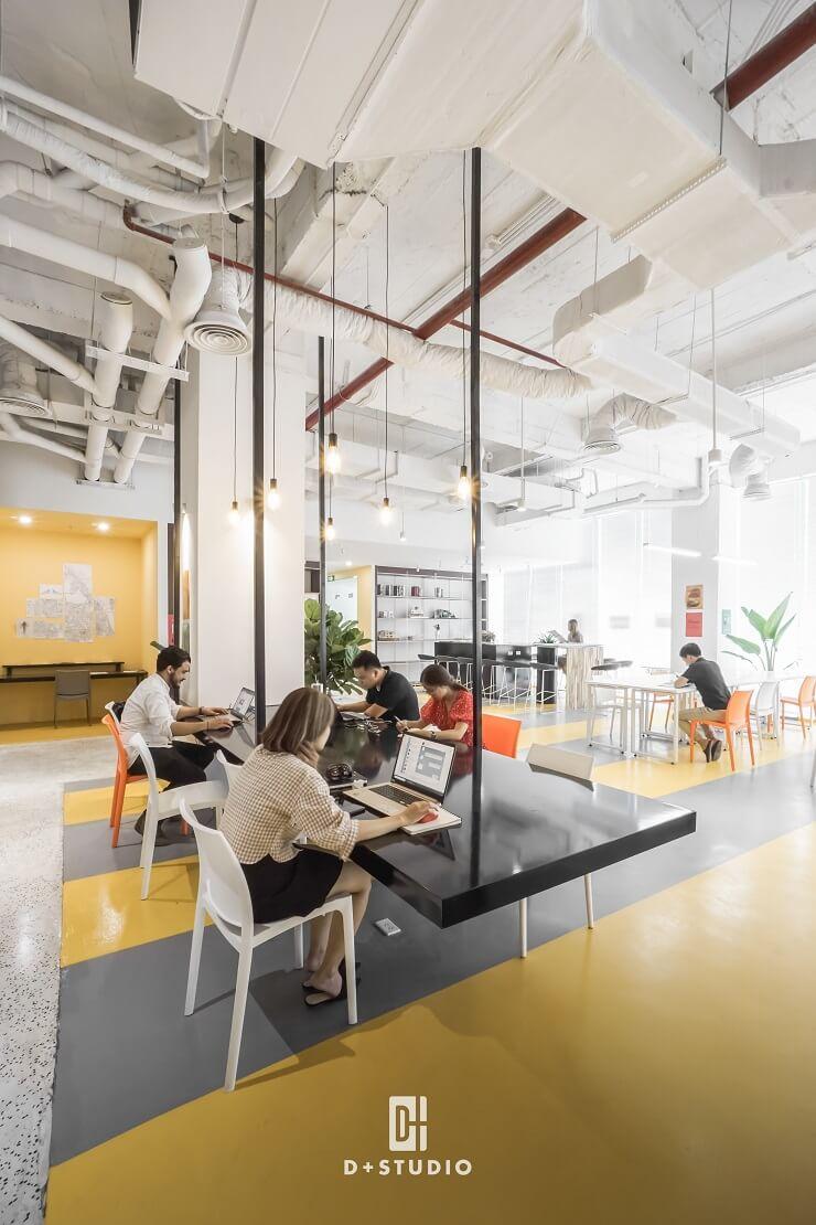 mẫu thiết kế văn phòng goo coworking